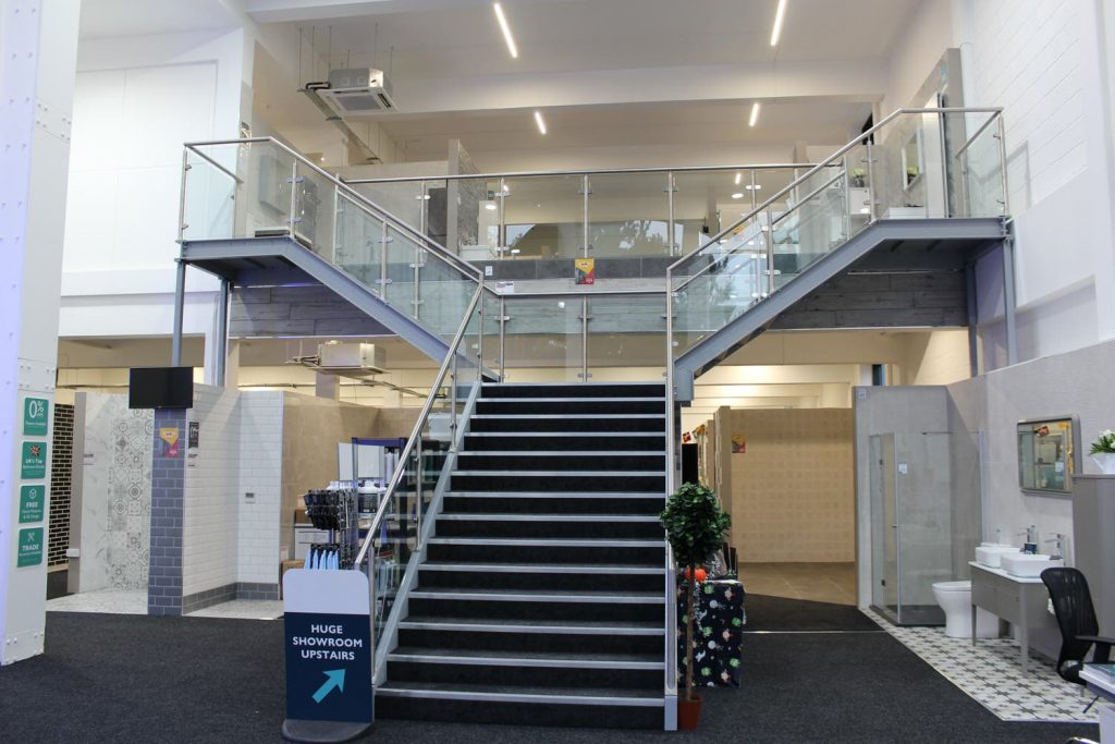 Mezzanine with Y shaped staircase