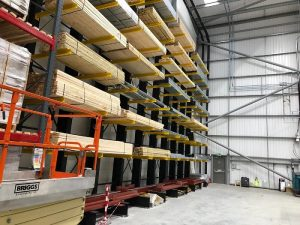 Cantilever for timber storage