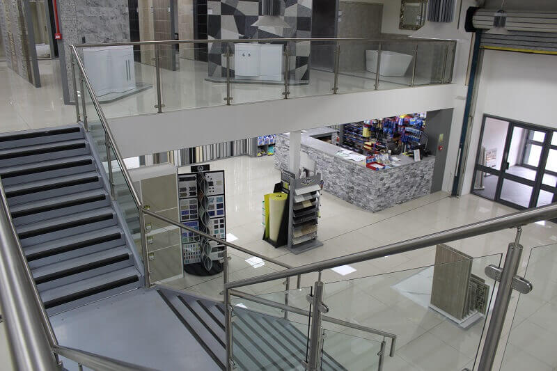 View from upper level retail mezzanine floor