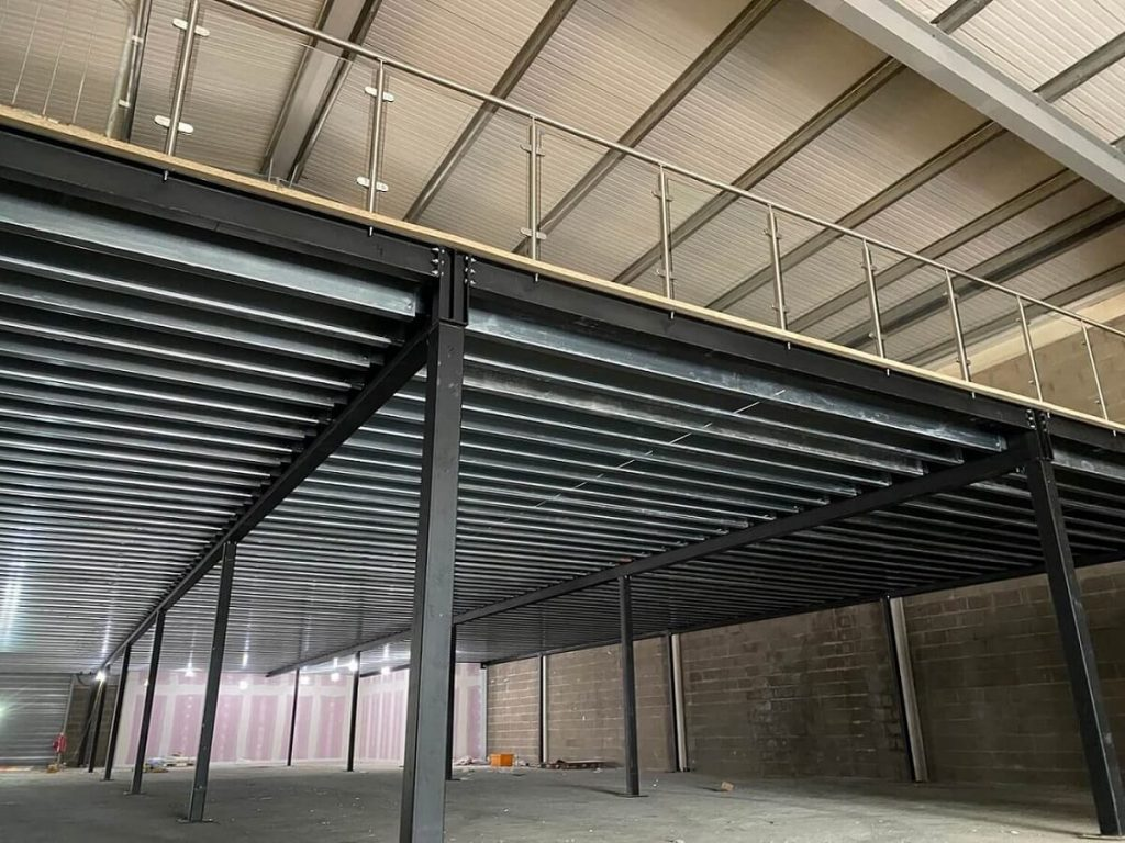 Gym mezzanine floor under construction