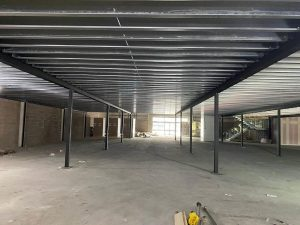 Gym mezzanine floor under construction