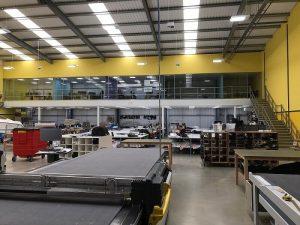 Office mezzanine in manufacturing facility
