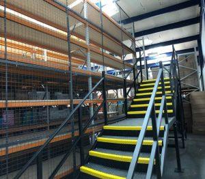 multi tier shelving system