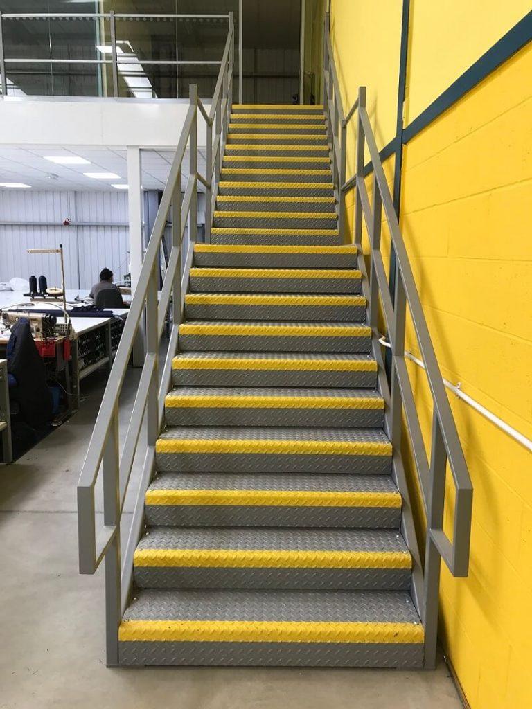 Canvasman office mezzanine access staircase