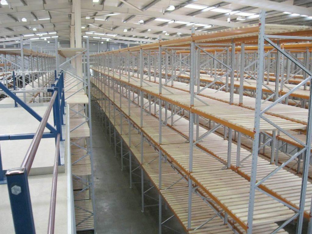 Timber decks on racking system