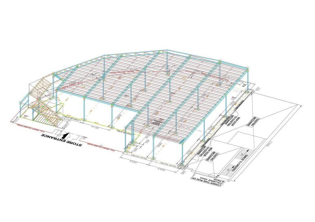 Mezzanine floor computerised plan
