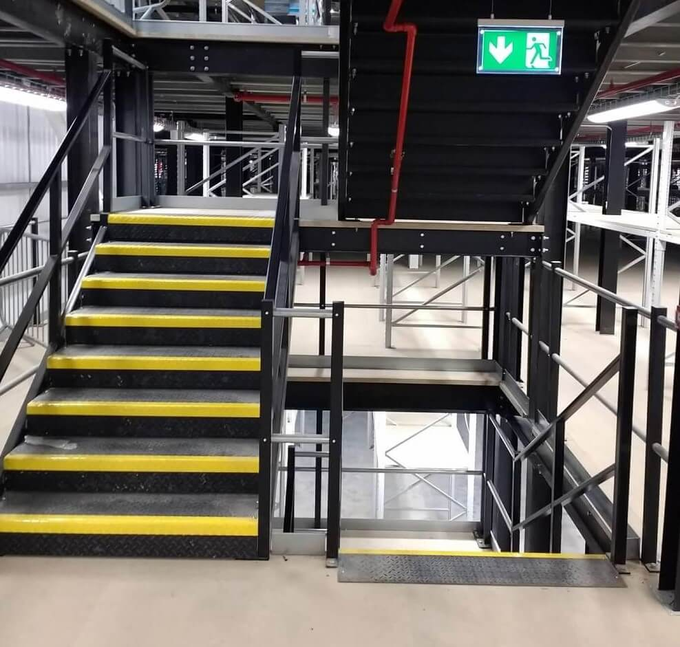 Warehouse mezzanine staircase