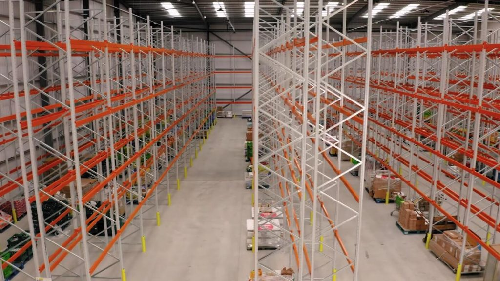 Completed pallet racking installation at Company Shop Ltd