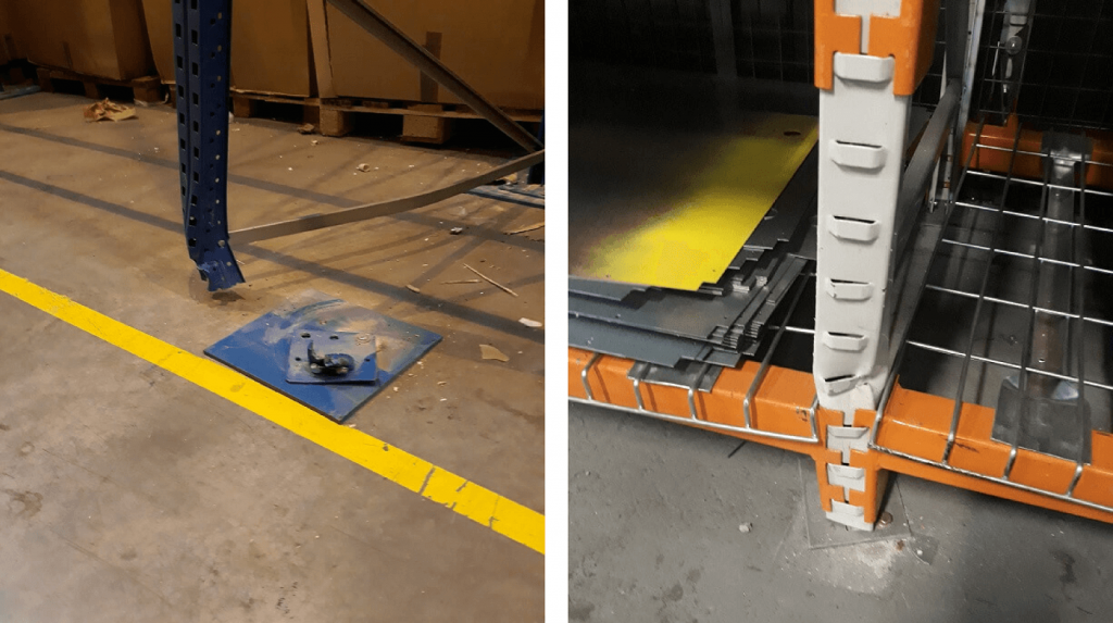 Pallet racking damage