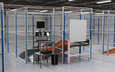 Secure your warehouse danger zones with wired mesh