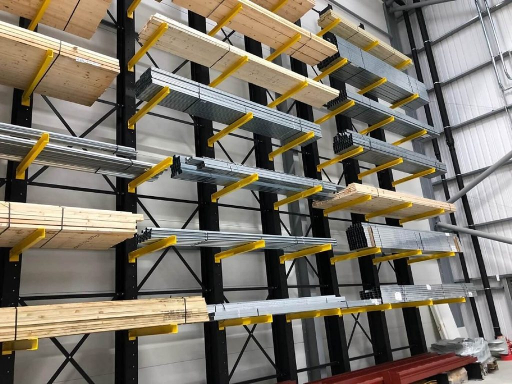 Cantilever Racking side view