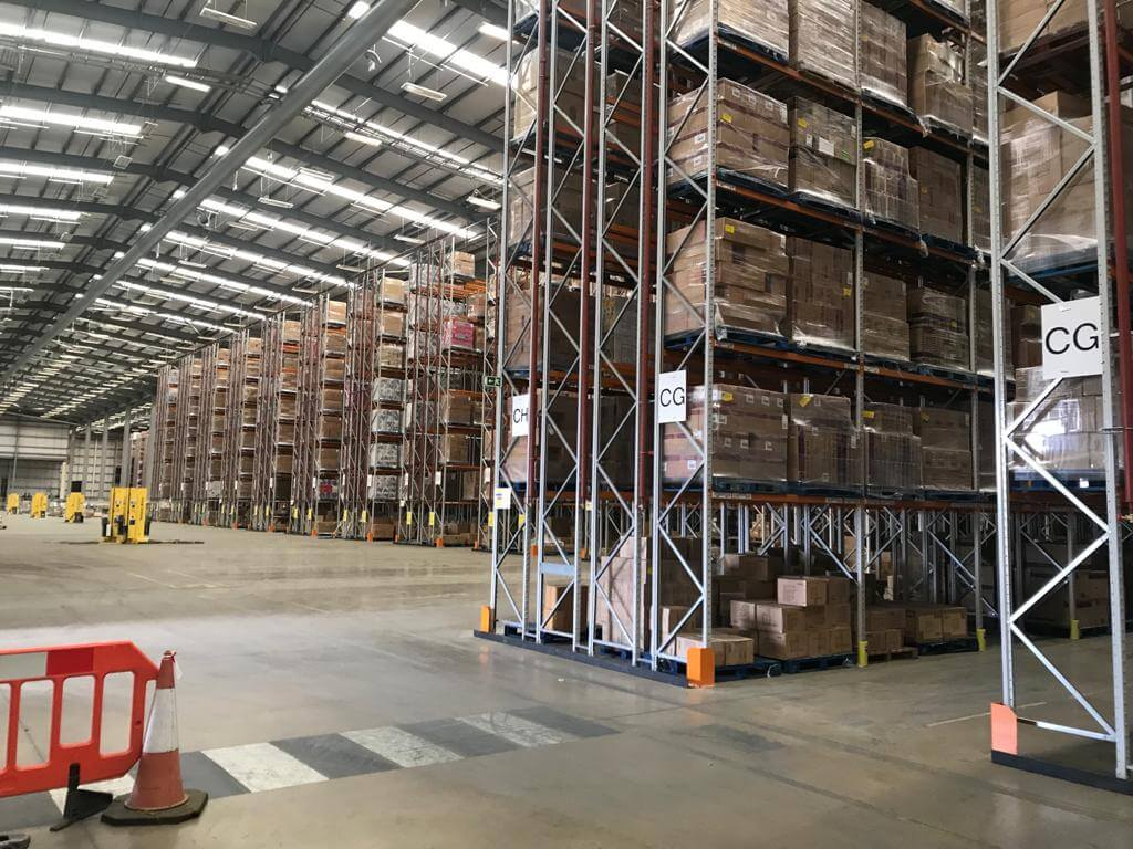 Warehouse with LED lighting