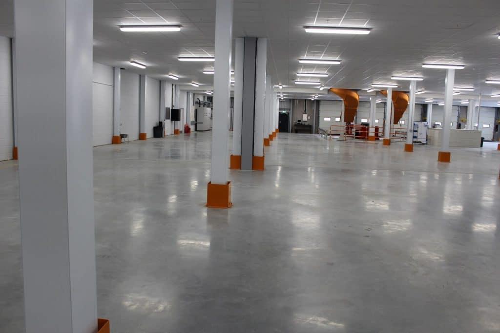 Mezzanine floor fire rated column casings