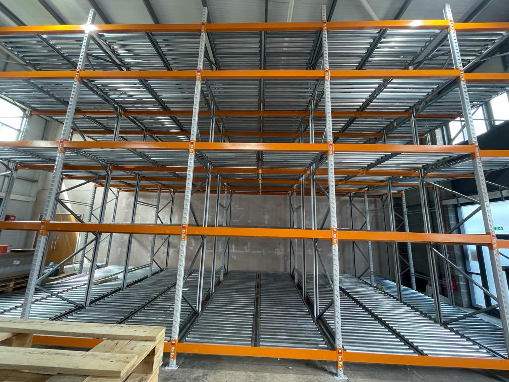 Push Back Pallet Racking - front View